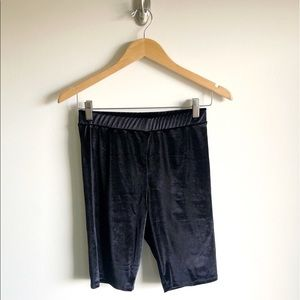 NWT Urban Outfitters Velvet Bike Shorts